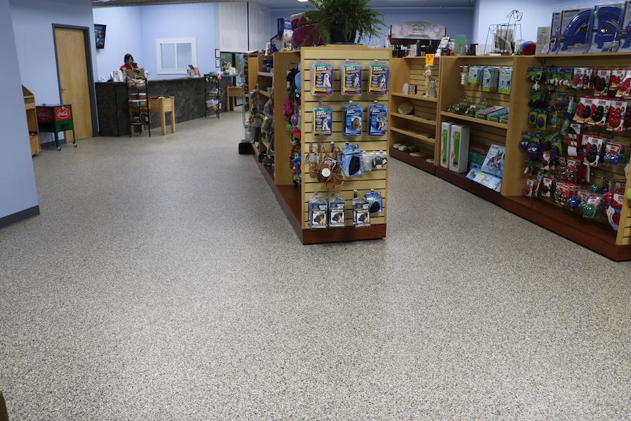 commercial floor with epoxy floor