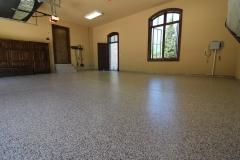 garage floor with epoxy coatings