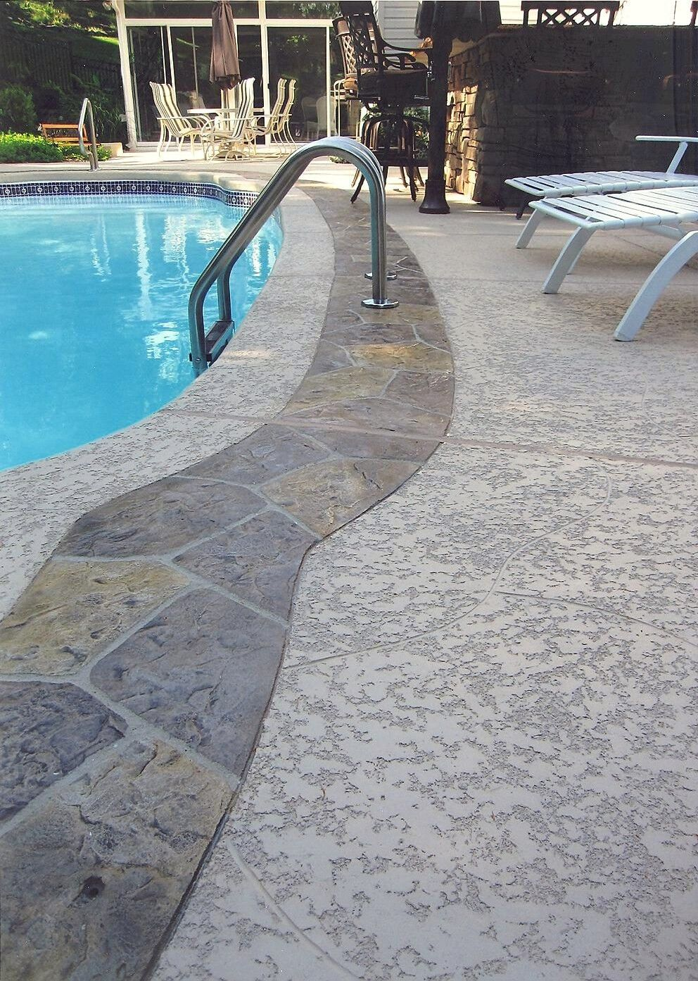 Concrete Pool Deck Finishes A Spray Knockdown Finish Installation Miami Fl  786 8992146