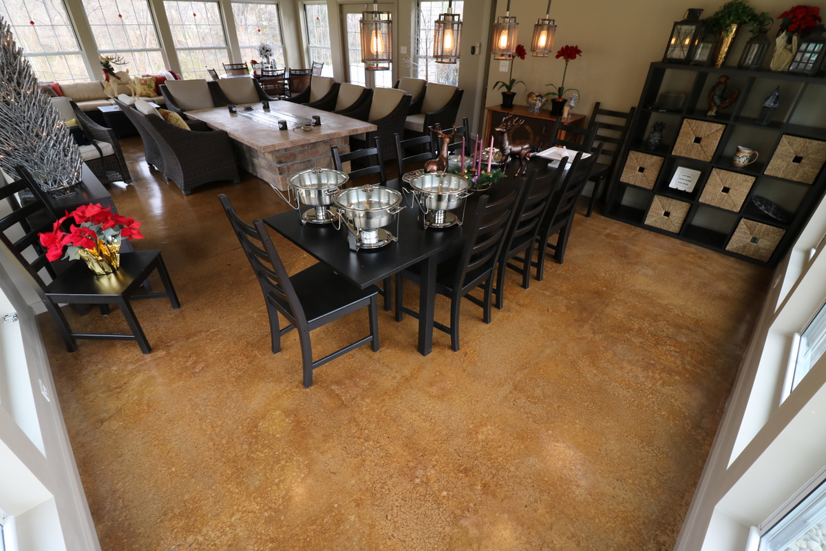 Stained Concrete Floors U2013 Concrete Stains Are Perfect For Any Type Of Interior  Concrete Floor, Be It In The Bedroom, Living Room, Kitchen, Or Hallway.