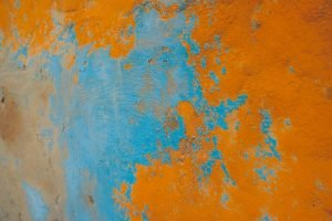 blue and orange color from wrong staining