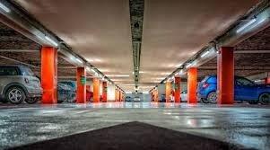 commercial decorative concrete parking lot