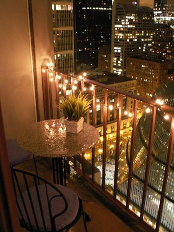 balcony fairy lights
