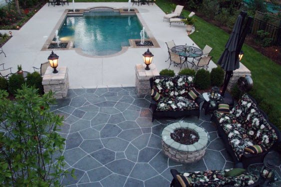 Decorative Concrete Project - pool deck & patio