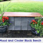 concrete patio bench