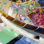 mosaic concrete patio bench