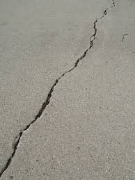 pool deck crack