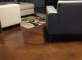 stained concrete interior flooring