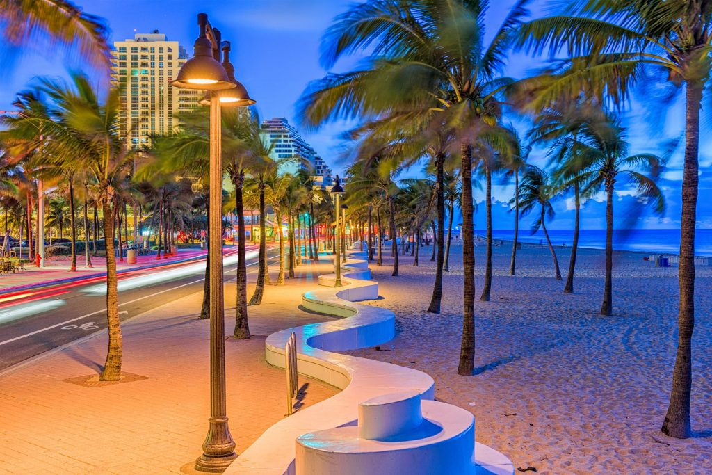 park on the beach in fort lauderdale, florida